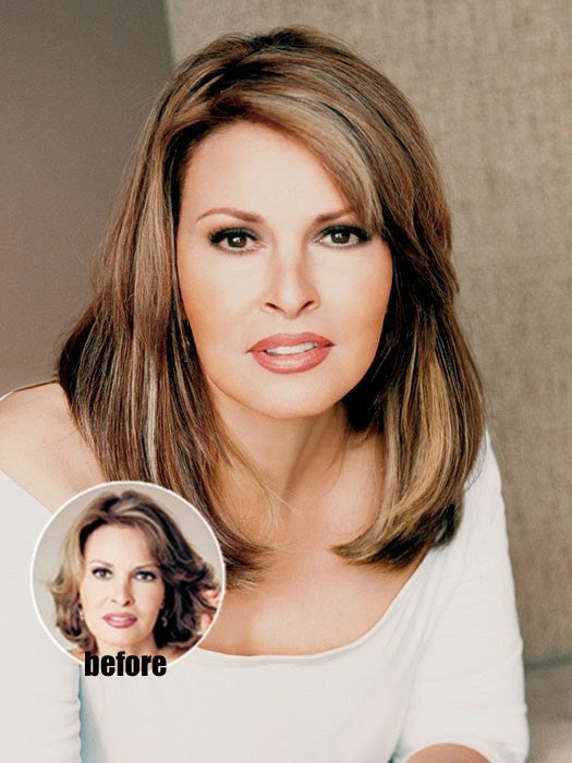 "Color N/A | 14"" Human Hair Clip In Extenstions by Raquel Welch 