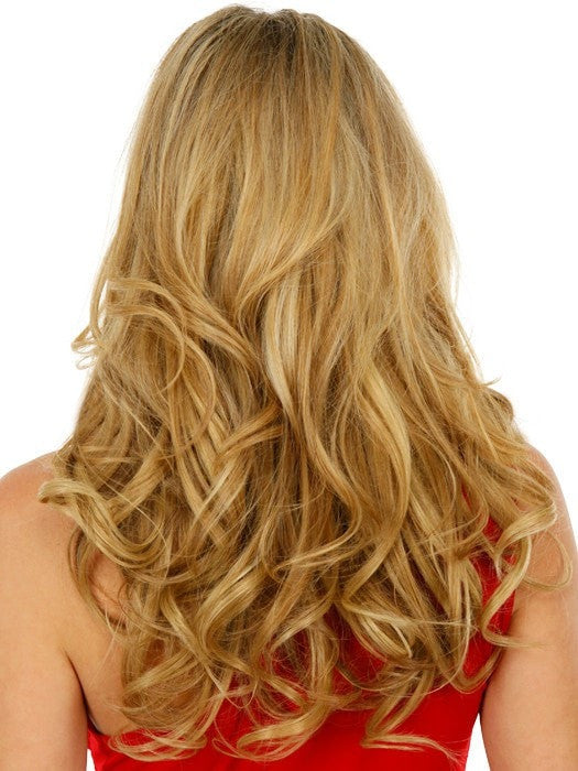 18 human hair clip in extensions 10pc by raquel welch hair color r25 ginger blonde golden blonde with subtle highlights pmusecretfo Image collections