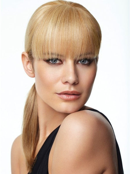 Color R25 = Ginger Blonde: Golden Blonde with subtle highlights | Human Hair Bang by Raquel Welch