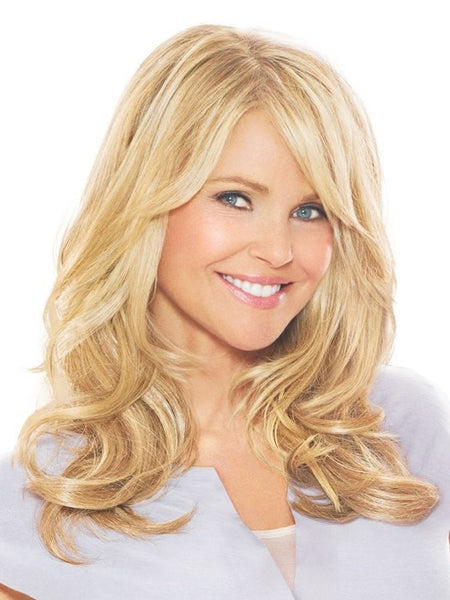 Add volume instantly hair extensions color ht25 medium golden blonde 16 clip in hair extension by christie brinkley pmusecretfo Gallery