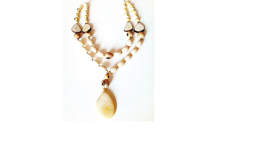 Ivory Con Leche Drop Necklace - Funkecomedina