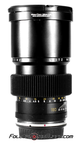 Seamless Follow Focus Gear for Leica 180mm f2.8 Elmarit - R II