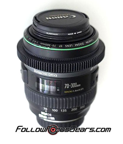 Seamless Follow Focus Gear for <b>Canon EF 70-300mm f4.5-5.6</b> (DO version only) Lens