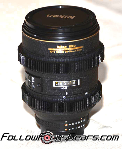 Seamless Follow Focus Gear for <b>Nikon AF-S 28-70mm f/2.8D Nikkor ED</b> Lens
