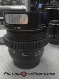 Seamless™ Follow Focus Gear Ring for <b>Zeiss 50mm f2 Makro-Planar ZE</b> Lens