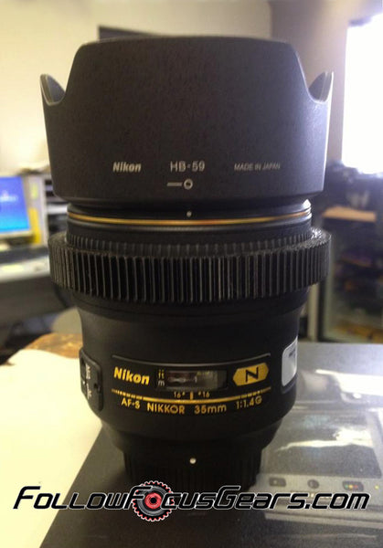Seamless Follow Focus Gear for <b>Nikon AF-S 35mm f1.4 G</b>  Lens