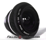 Seamless Follow Focus Gear for Nikon 28mm f2.8 AI Lens
