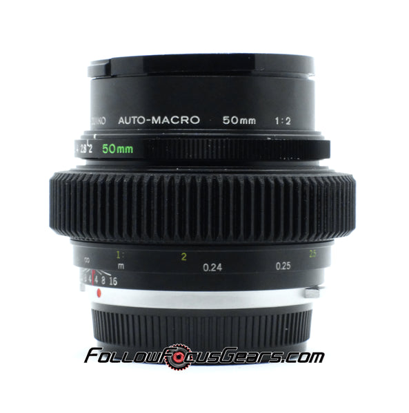Seamless Follow Focus Gear for Olympus OM System Zuiko Auto-Macro 50mm f2 Lens