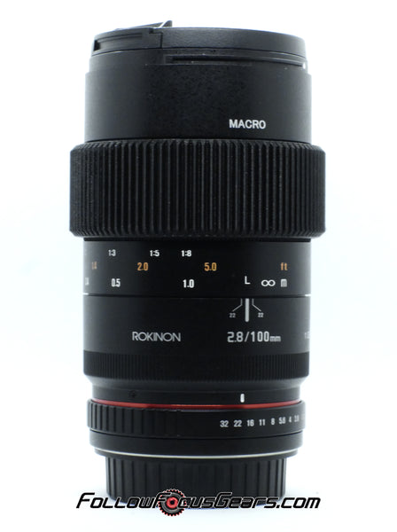 Seamless Follow Focus Gear for Rokinon 100mm f2.8 EF Canon Mount