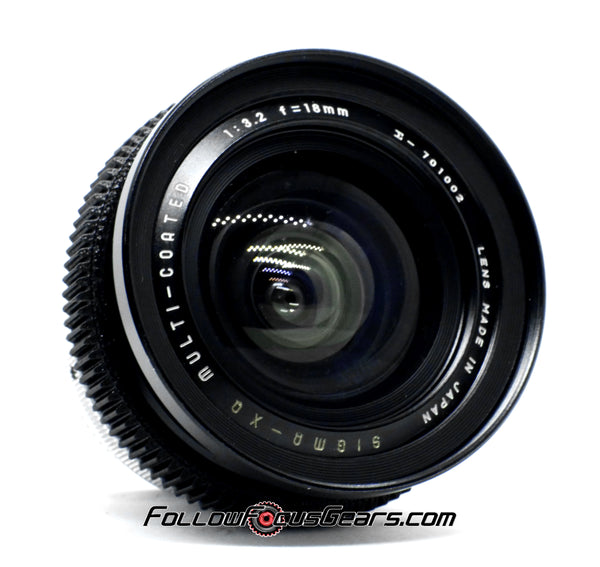 Seamless Follow Focus Gear For Sigma 18mm f3.2 XQ Multi-Coated Lens