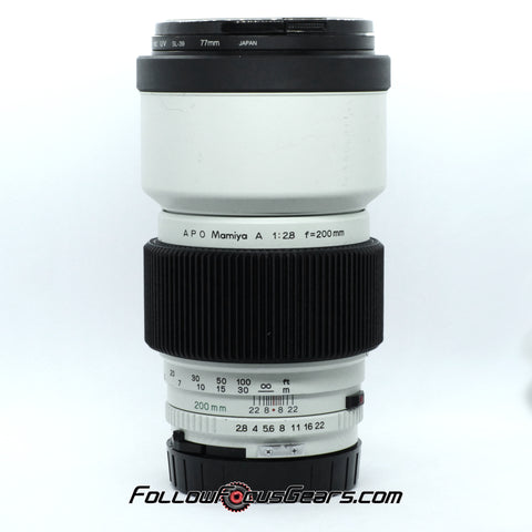 Seamless Follow Focus Gear for Mamiya Sekor A 200mm f2.8 APO Lens