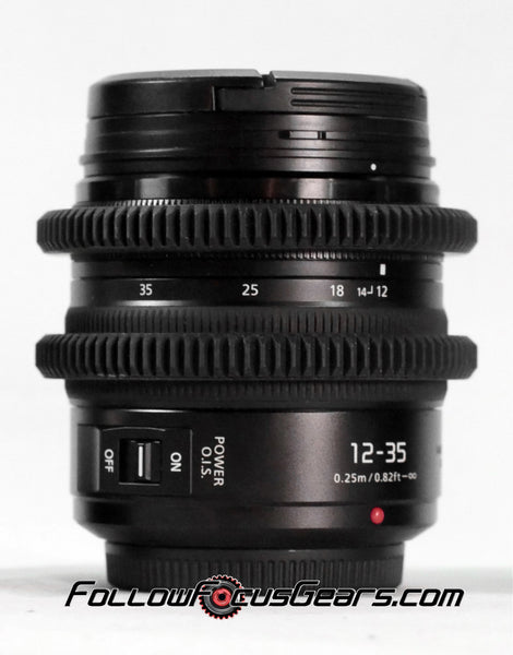 Seamless™ Follow Focus Gear for <b>Panasonic Lumix G Vario 12-35mm f2.8</b> Lens