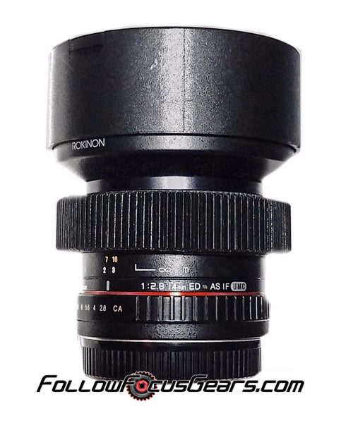 Seamless™ Follow Focus Gear Ring for Rokinon 14mm F2.8 ED AS IF UMC (Red Stripe) Lens