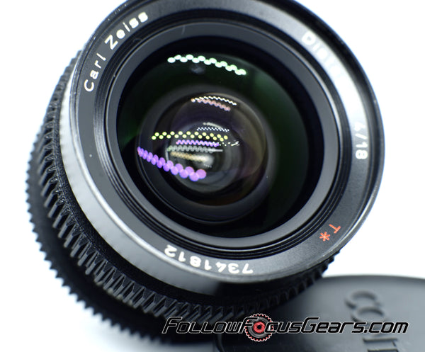 Seamless Follow Focus Gear for Contax Zeiss 18mm f4 Distagon Lens