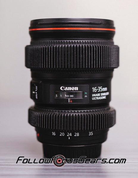 Seamless Follow Focus Gear for Canon 16-35mm f4 L IS USM Lens