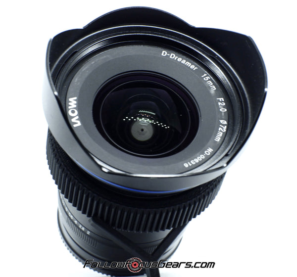 Seamless Follow Focus Gear for Laowa 15mm f2.8 D Dreamer Lens