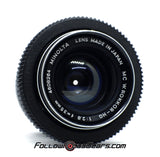 Seamless Follow Focus Gear for Minolta MC W Rokkor HG 35mm f2.8 Lens
