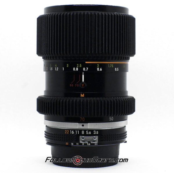 Seamless Follow Focus Gear for Nikon 35-70m f2.8 AIS Lens