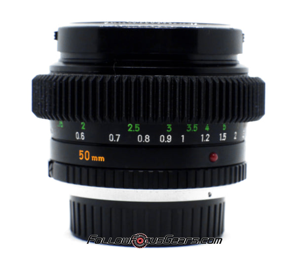 Seamless Follow Focus Gear for Minolta MC Rokkor - X PG 50mm f1.4 Lens