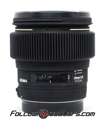 Seamless Follow Focus Gear for Sigma 28mm f1.8 EX DG Lens