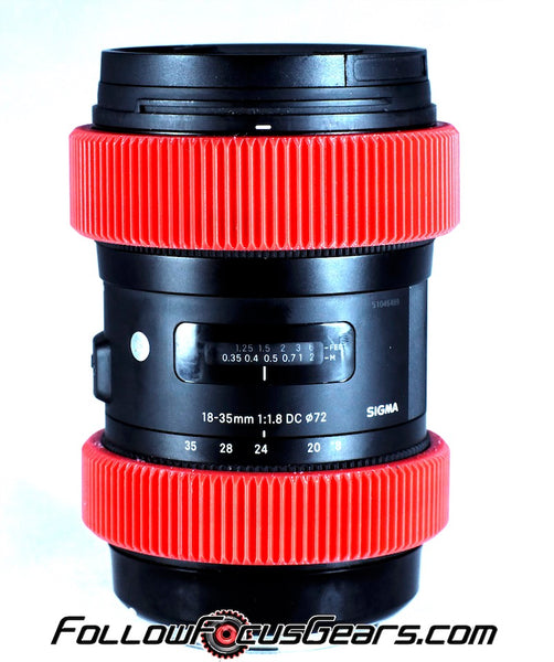 Focus Zoom Gear for Sigma 18-35mm f1.8 Lens Seamless Lens Gear
