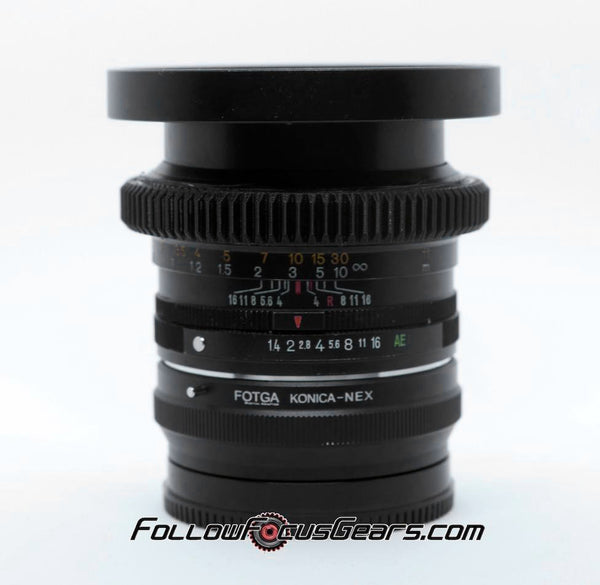 Seamless Focus Gear for Konica Hexanon AR 50mm f1.4 Lens