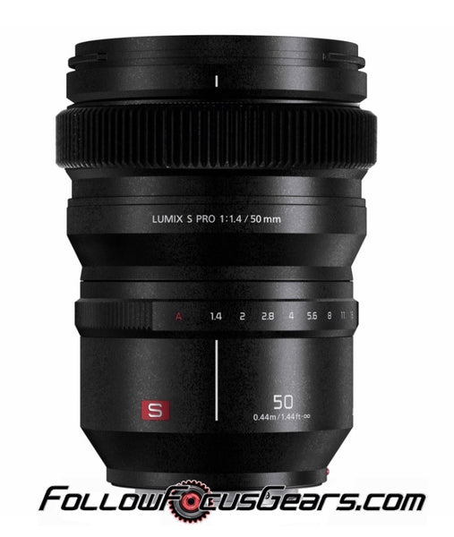 Seamless™ Follow Focus Gear for <b>Panasonic Lumix S 50mm f1.4 Pro</b> Lens
