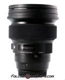 Seamless Follow Focus Gear for Sigma 105mm f1.4 DG HSM Art Lens
