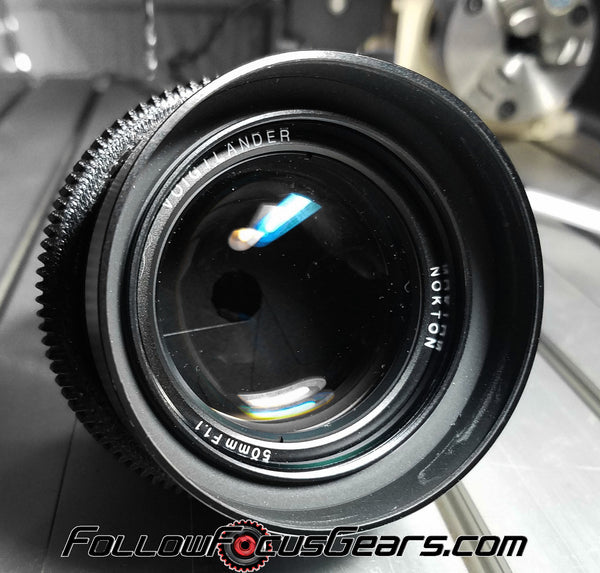 Seamless Follow Focus Gear for <b>Voigtlander 50mm f1.1</b> Lens