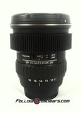 Seamless Follow Focus Gear for <b>Tokina 11-16mm f2.8</b> Lens (Nikon & Canon Mount)