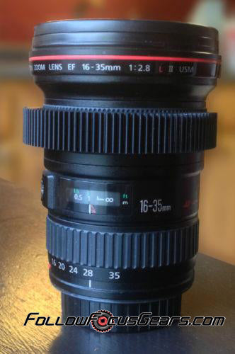 Seamless Lens Gear for Canon 16-35mm f2.8 L II Lens