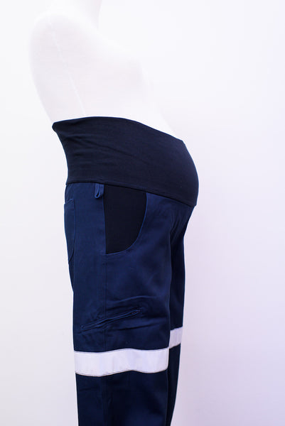 Maternity straight leg pants (with Reflective tape)