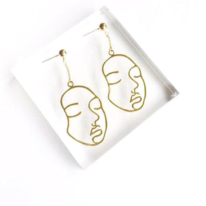 """Face It"" Earrings"