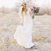 Lace Long Sleeves Bohemian Wedding Dress Beach Wedding Gowns Bohemian Style Wedding Dresses