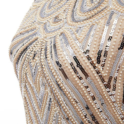 Fringe Midi Beaded Sequin Vintage Inspired Prom Dress - Sparkly Prom Dress