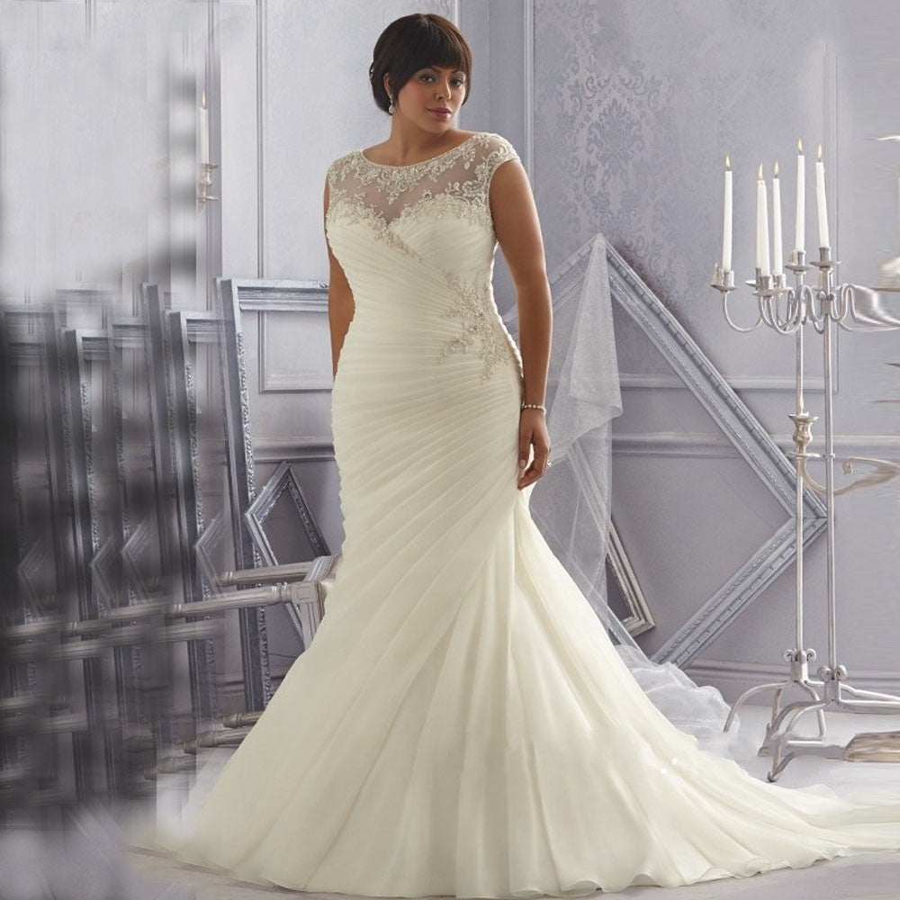PLUS SIZE WEDDING DRESS OLIVIA AmysBridal - Plus Size Fall Wedding Dresses