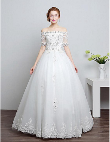 LACE WEDDING DRESS SWEETHEART NECKLINE A LINE