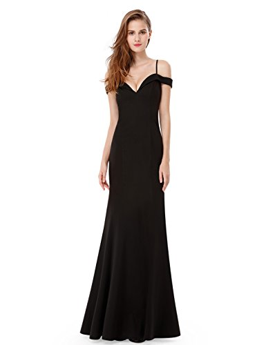 BRIDESMAID DRESS - OFF SHOUDLER, Color - Black