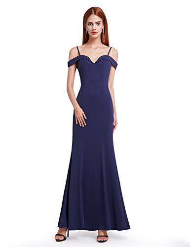 BRIDESMAID DRESS - OFF SHOUDLER, Color - Navy Blue