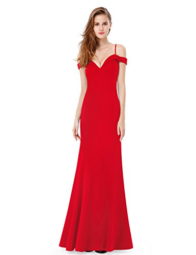 BRIDESMAID DRESS - OFF SHOUDLER, Color - Red