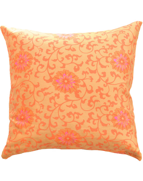 Floral Burst pillow - yellow & orange