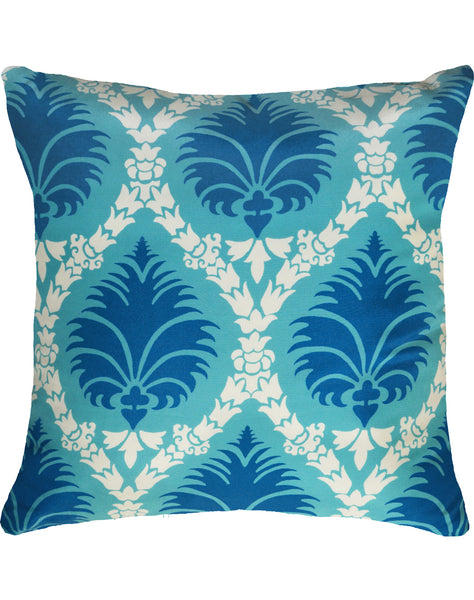 Prince's Palm Pillow - turquoise & blue