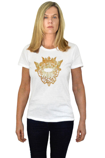 Sunburst Crest Women's Organic Cotton Graphic T-Shirt