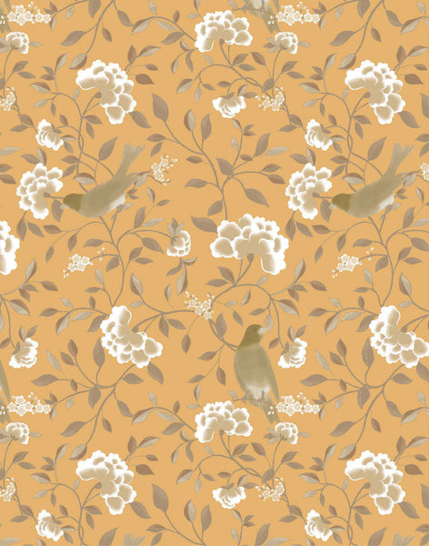 Bird Song Wallpaper - marigold