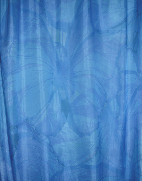 Butterfly Migration sheer curtain - blue