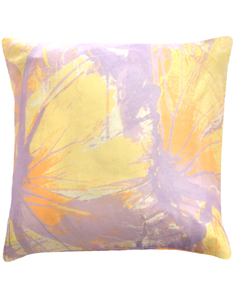 Butterfly Migration Pillow - Yellow, Mauve & Orange