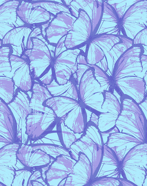 Butterfly Migration wallpaper - purple and blue