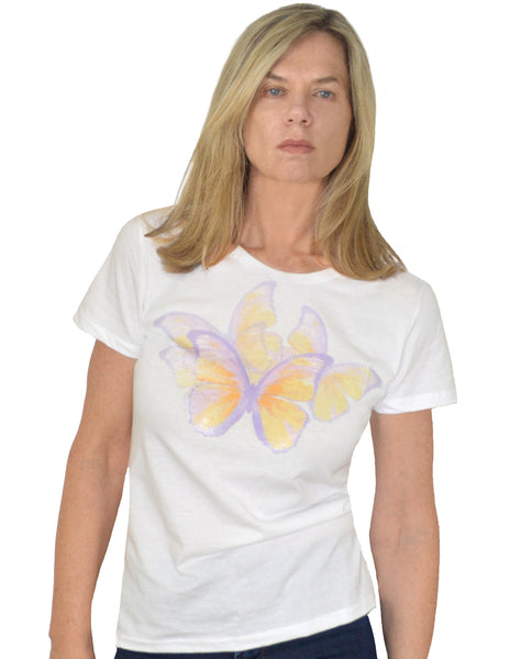 Butterfly Migration Organic Cotton Graphic T-Shirt