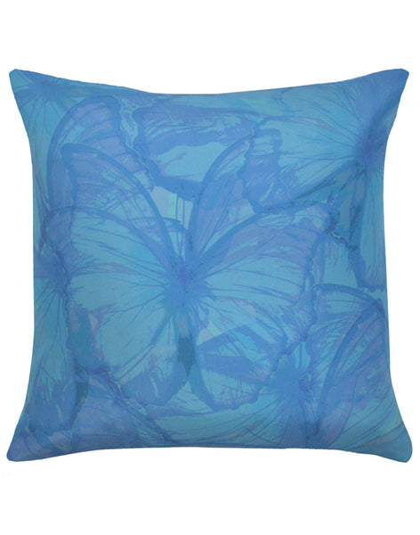 Butterfly Migration pillow - blue