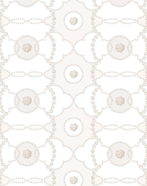 Flora wallpaper - stone & off-white